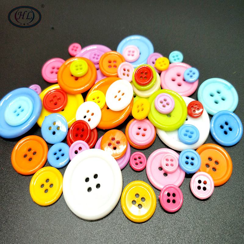 HL 20-100PCS Multi Sizes Round Buttons Mini Tiny Sewing Tools Scrapbooking Button Decorative Clothing Apparel Accessories DIY