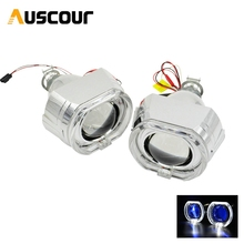 2.5 inch mini Bi xenon hid Projector lens for bmw led day running angel eyes mask H1 H4 H7 retrofit motorcycle car assembly kit