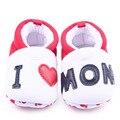 Vendedores calientes del algodón puro la mamá y del papá Slip On Baby chicas y chicos zapatos 0 - 12 M