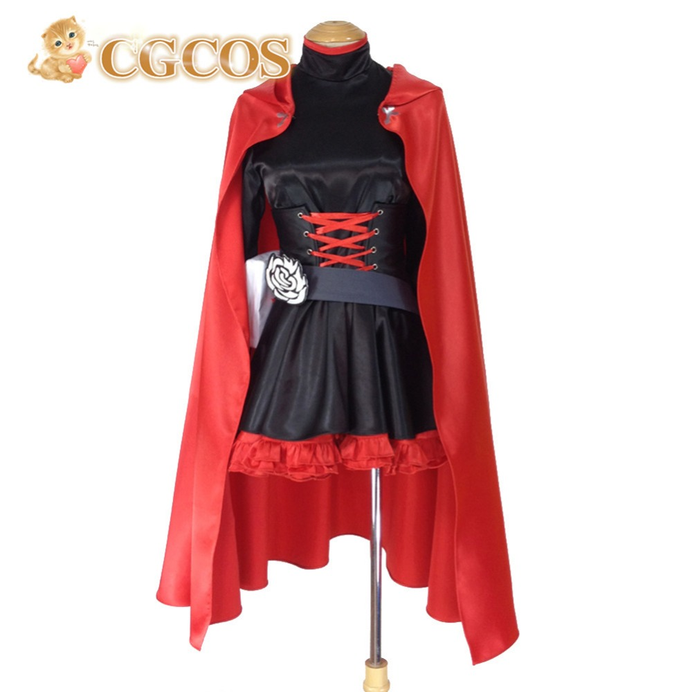 CGCOS Free Shipping Cosplay Costume RWBY Ruby Rose Red Trailer New in Stock Halloween Christmas Party Uniform