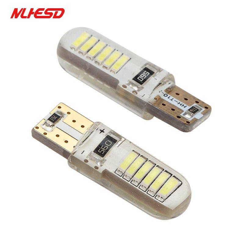 2pcsT10 4014 светодиодный w5w T10 светодиодный 158 168 194 12smd SMD светодиодный светильник без ошибок для замены автомобиля лампы 12v Белый