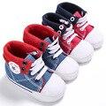Детские Впервые Ходунки Baby Shoes Мода Ковбой Холст Обувь Мягким Дном нескользящей Малыша Обувь для Младенцев