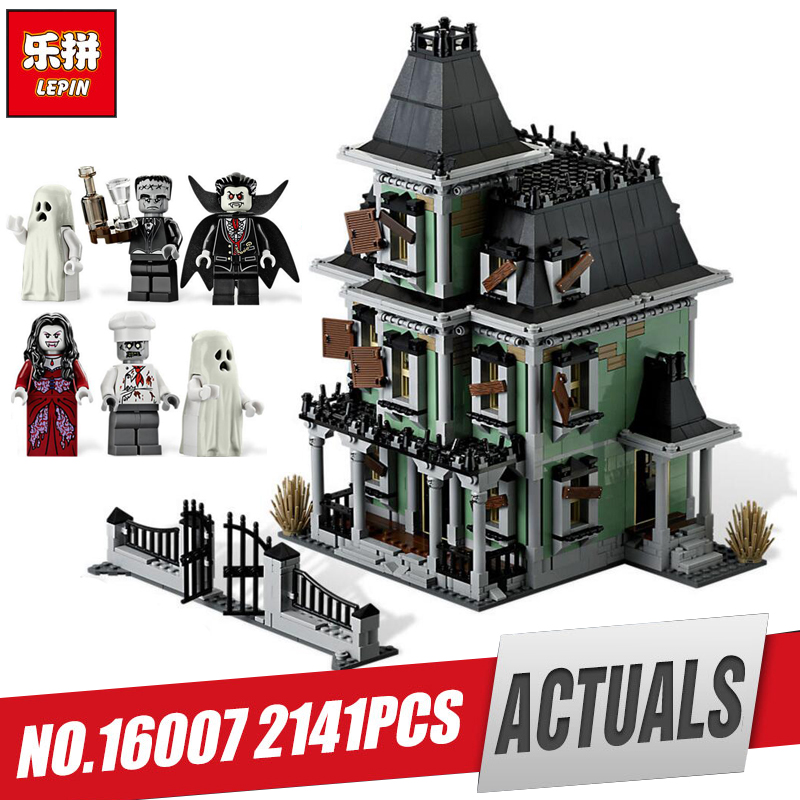 LEPIN 16007 2141Pcs Monster fighter The haunted house Model set Educational Building Kits Model Compatible With Legom 10228 toy the monster next door