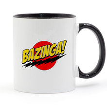Bazinga designed The Big Bang Theory Mug Coffee Milk Ceramic Cup Creative DIY Gifts Home Decor Mugs 11oz T1001 футболка стрэйч printio bazinga the big bang theory