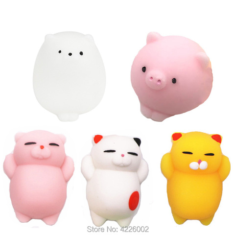 30 pcs squishy squeeze mochi cat squishes