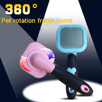 Stainless Steel Dog Frame Comb Massager Dog Grooming Comb Pet Hair Care Professional Duurzaamheid Tool dogs Pets Supplies70Z1167