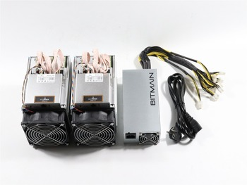 2pcs Used Antminer Z9 Mini 10k Sol/s 300W With 1pc BITMAIN APW3 1600W PSU Asic Equihash Miner Mine ZEN ZEC BTG 1