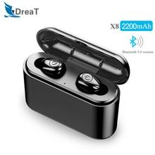 Беспроводные наушники Bluetooth 5,0 наушники стерео водонепроницаемая Спортивная гарнитура с 2200 мАч зарядным аккумулятором для Iphone Android