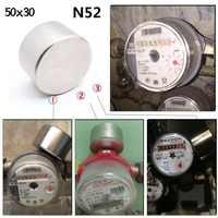 Imán de neodimio de 50x30mm N52 Iman fuertes Imanes redondos potentes Imanes de tierras raras Imanes más fuerte medidor de Gas de agua de lento magnético