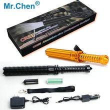 USA CREE Chip 6 Model Package Telescopic Baton Self Defense Lanterna Patrol Mini Powerful Rechargeable Police Led Flashlight