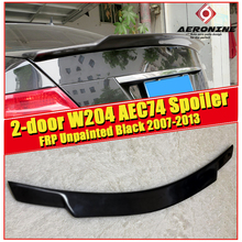 цена на For Mercedes Benz W204 Trunk Spoiler FRP Unpainted C74 Style 2-door C Class C180 C200 C63 Rear trunk wing rear spoiler 2007-2013