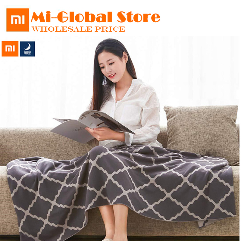 new arrival Xiaomi Tonight Combed cotton knit blanket Multifunctional soft Cotton blanket comfortable for home office two size chunky knit blanket cozy blanket giant knit blanket red wine color size 44x62 inches 112x158 cm