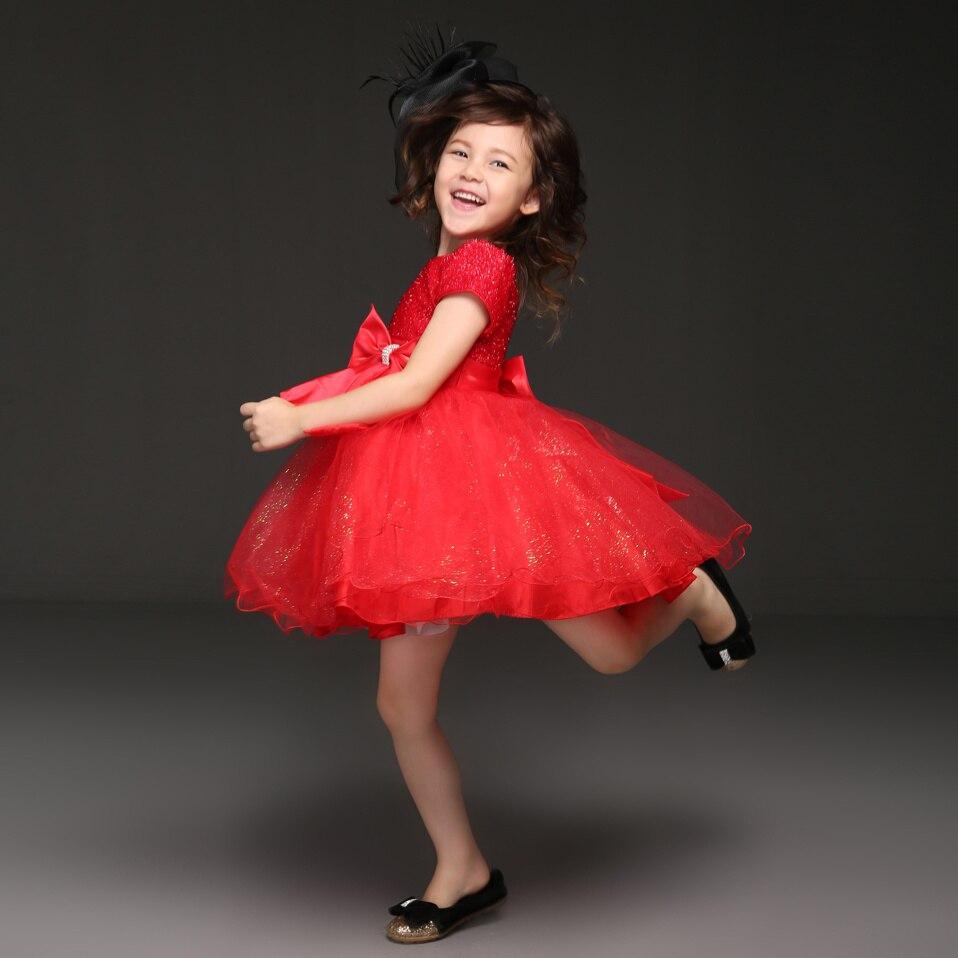 Таобао красные праздничные платья для девочек