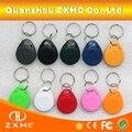 (10 piezas) T5577 125 khz programable RFID etiquetas inteligentes regrabable llaves Number2 llaveros para Control de acceso