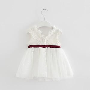 Image 4 - Varejo verão recém nascido com decote em v laço princesa vestido infantil bebê meninas vestido mel roupas de bebê vestido de bebê