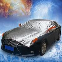 Universal Aluminum Plus cottonWaterproof Size Ordinary MPV SUV Full Car Cover Sun Snow Dust Rain Resistant