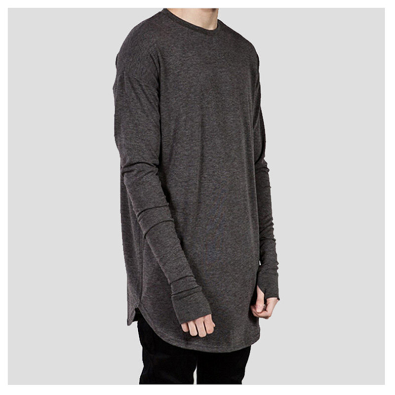 US $12.74 15% OFF|extend hip hop street T shirt wholesale fashion t shirts men summer long sleeve oversize design hold hand in T Shirts from Men's
