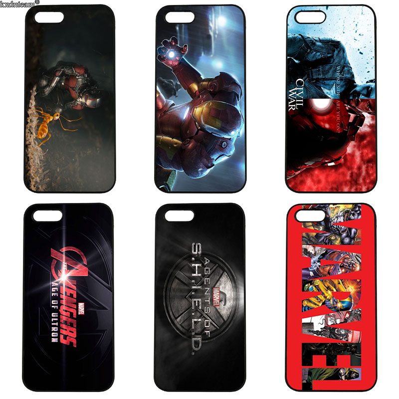 Marvel Superheroes The Avengers Cell Phone Case Hard PC Cover for iphone 8 7 6 6S Plus X 5S 5C 5 SE 4 4S iPod Touch 4 5 6 Shell