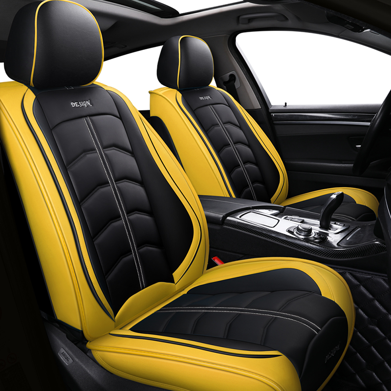 Sports Leather Car Seat Cover For Mitsubishi All Models ASX Lancer SPORT EX Zinger FORTIS Outlander Grandis Accessories Styling