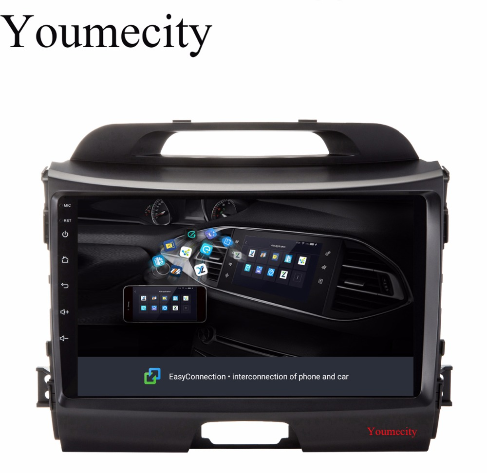 Youmecity 32G ROM 9 Inch!Sportage r/Sportage 3 2 din Android 8.1 Car DVD player Gps wifi for KIA 2010 2014 2011 2012 2013 2015 автомобильный dvd плеер hotaudio 4 4 4 kia sportage 2010 dvd gps navi dhl ems