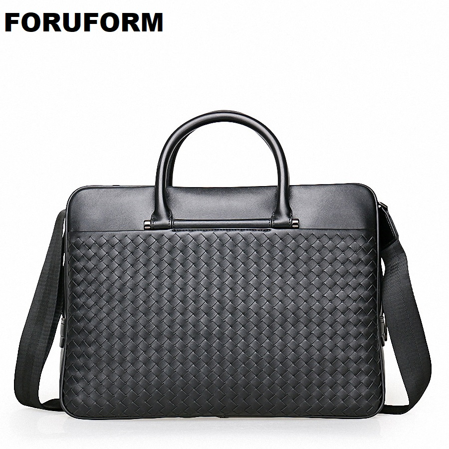 Handbag Men Leather Briefcases Lawyer Shoulder Bags Genuine Leather Male Messenger Bags Handbags Men Office Bag LI-1943