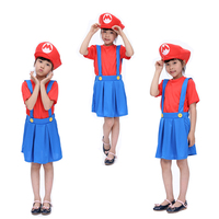 Free shipping 2016 now Halloween costumes for children sixty-one girls Super Mario Mario Louis cosplay game service