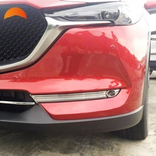 For Mazda CX5 CX 5 2017 2018 ABS Chrome Front Fog Light Lamp Eyebrow font b