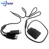 DC 5V Dual USB Cable Plus EN EL14 EP 5A Coupler For Nikon P7700 P7100 P7000