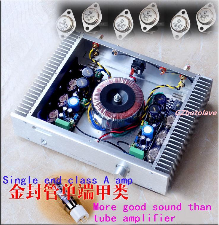 Nouvelle arrivée Wei Liang A6 scellé or MJ15024 MJ15025 pure classe A HIFI amplificateur de puissance 25WX2