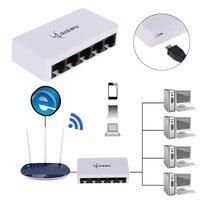 5 Порты Fast Ethernet RJ45 10/100 Мбит сетевой коммутатор gigabit коммутатор