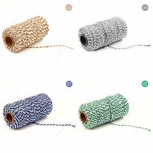 Image 4 - DIY 꼬인 코드 선물 포장 액세서리 포장 장식 웨딩 파티 포장 더블 컬러 코튼 베이커 꼬기 로프