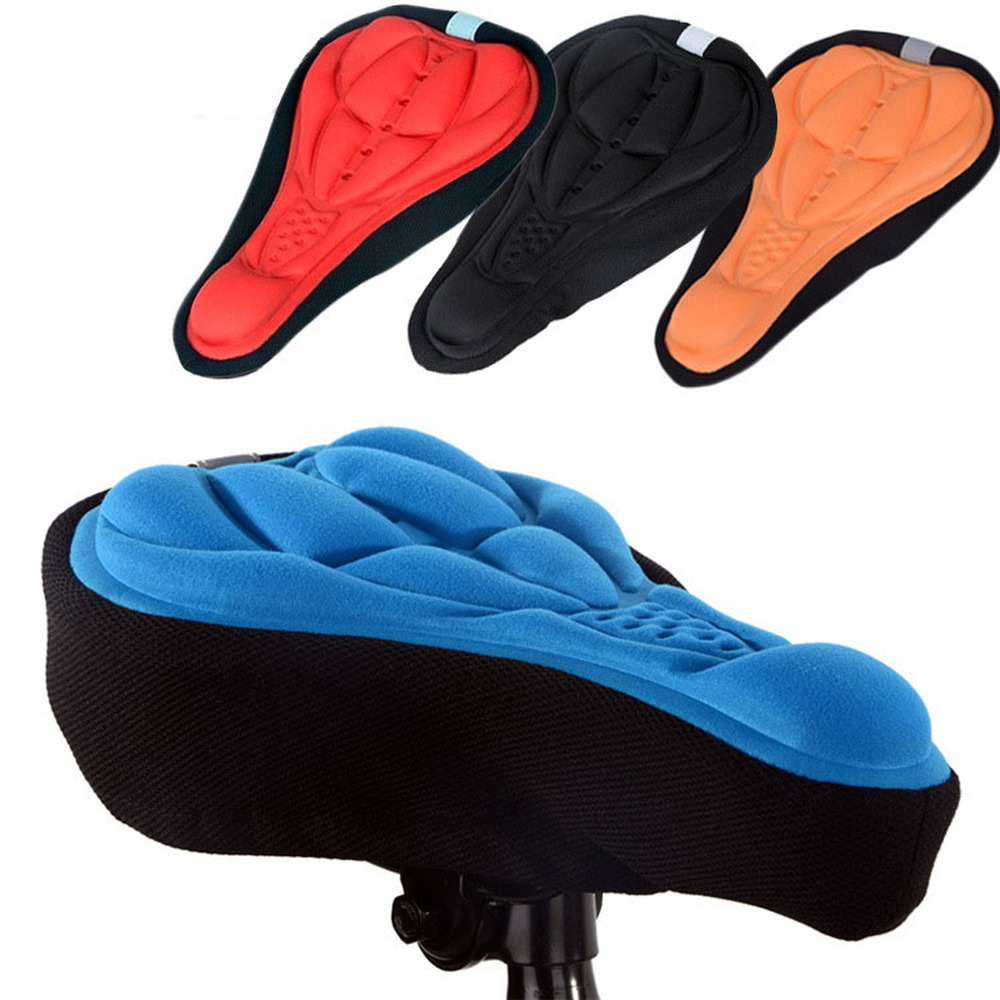 3D Soft Bike Seat Saddle Bicycle Cycling Silicone Seat Thicken Mat Cushion Seat Cover Saddle Bicycle Accessories Protective Gear