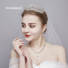 Gold silver Fashion rhinsonte tiaras and crowns wedding hair accessories women pageant ornament queen hair jewelry HD229