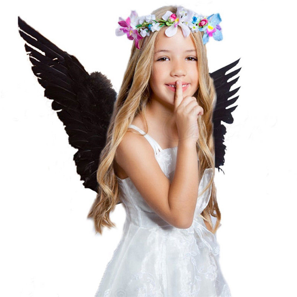 e4570089b091 Adult Kid Angel Wings Feather Fairy Night Party Fancy Dress Costume Cosplay  Prop NEW | .wishlists.tk Sc 1 Th 225