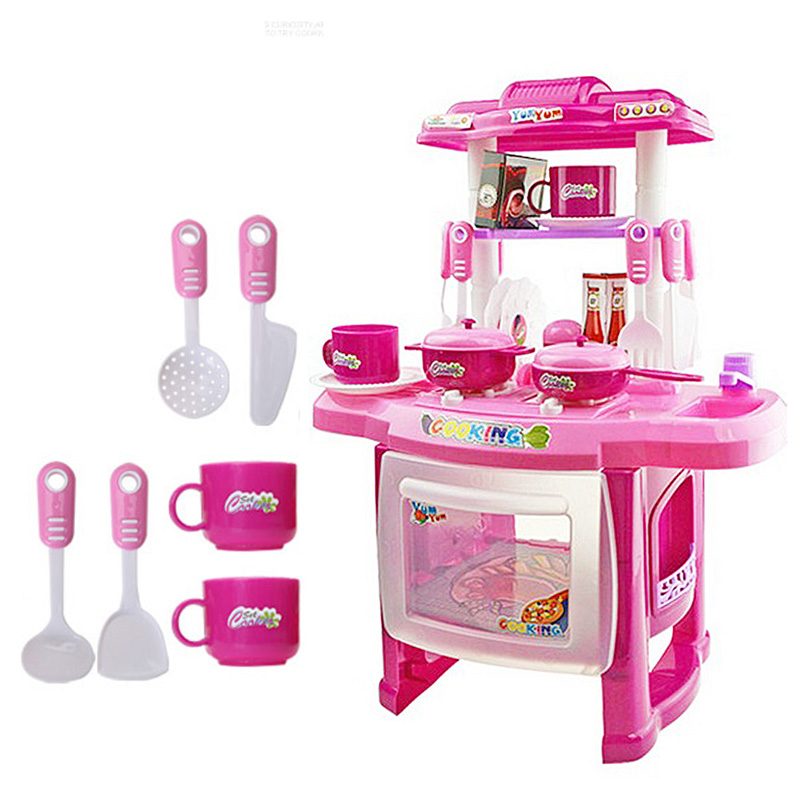 Popular kitchen cooking toys buy cheap kitchen cooking for Toy kitchen set