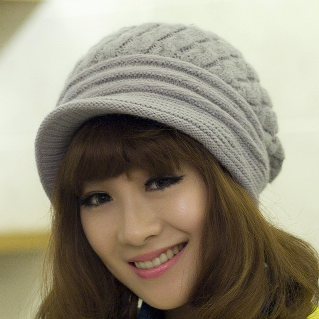 ccf293a3844 Apparel Accessories Woolen Knit Solid girls lady winter wear cap The little  hat for women female gorra raiders rabbit fur H232