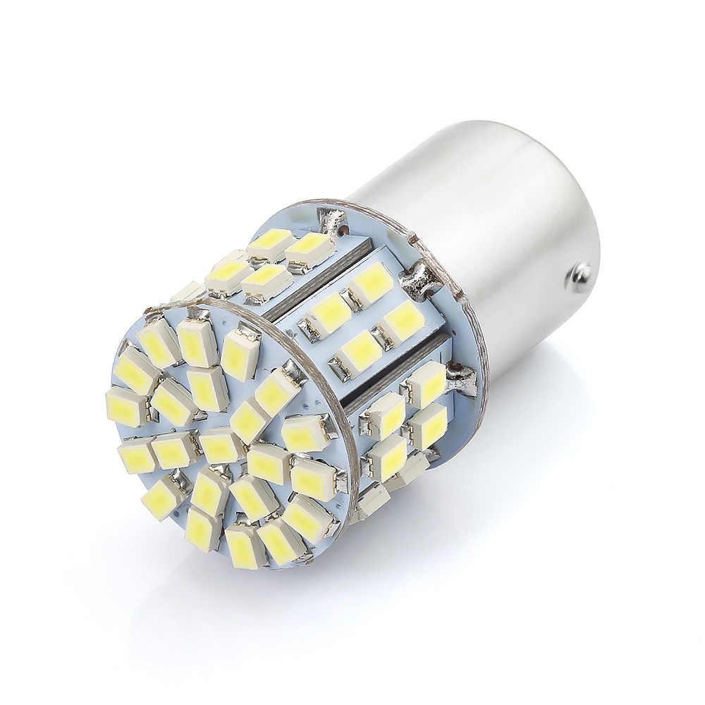 2 pièces LED de voiture P21W 1156 BA15S Canbus sans erreur blanc DRL feu arrière tourner feux arrière ampoules 50W 12V clignotant lampe