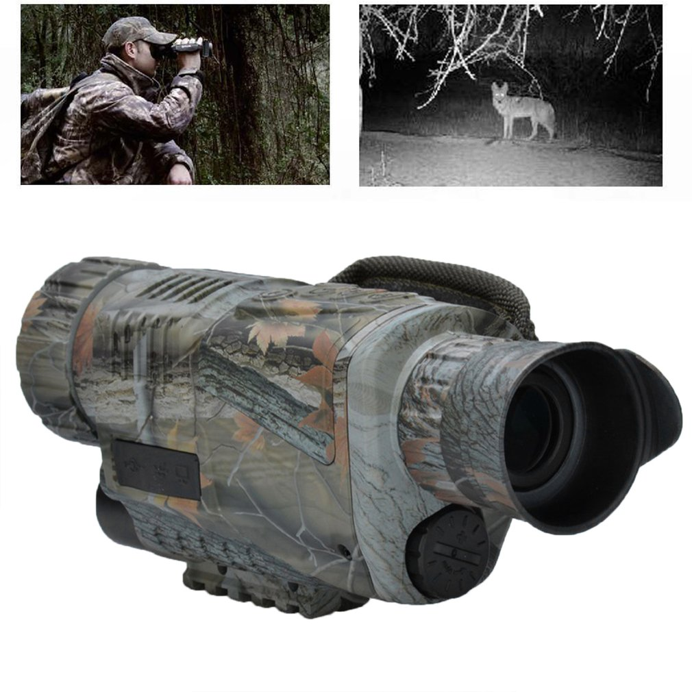 Camouflage 5x42 Magnification High-definition Night Vision Telescope Instrument Portable Infrared Camera Video Drop Shipping binocular telescope high definition high double night vision non infrared for children adult concert glasses