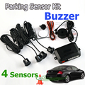 4 Sensors Buzzer 22mm Car Parking Sensor Kit Reverse Backup Radar Sound Alert Indicator Probe System 12V 7 Colors Free Shipping