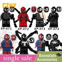Unique Vente Venin Film Série Deadpool Spiderman Ironman Super Hero Action Building Blocks Legoe Minifigured KT1010(China)