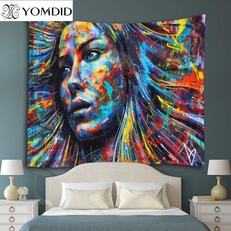 Psychedelic Art Printing Tapestry Wall Hanging Tapestries Boho Blanket Bedspread Beach Towel Yoga Picnic Mat Table Cloth carpet