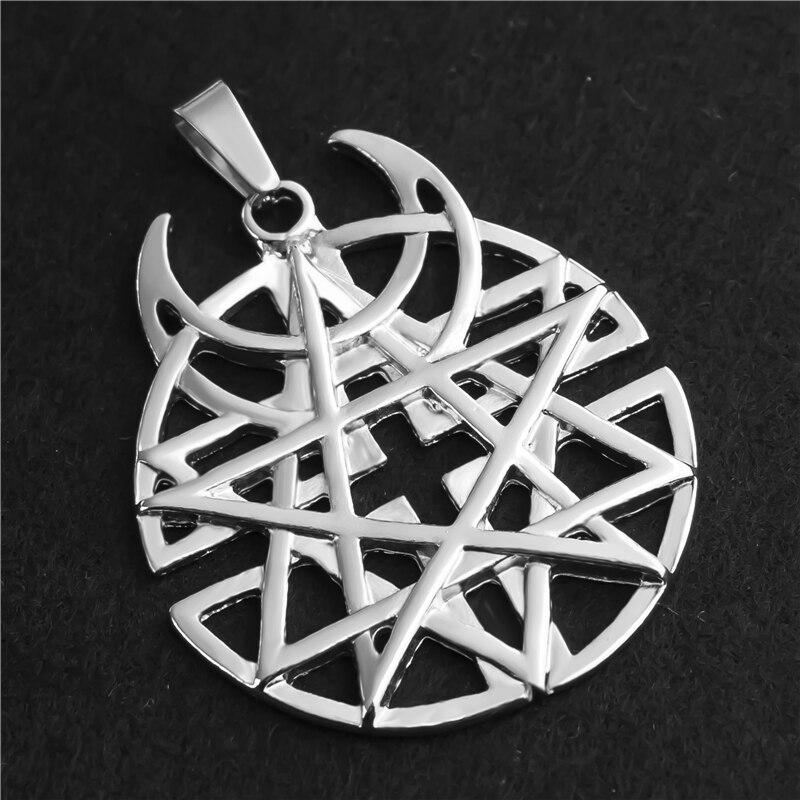 Star Moon Pentagram Pendant