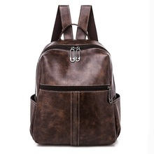 Women Leather Backpack Anti-Theft Casual School Backpacks For Teenager Girls Travel Large Capacity Multifunction Backpack