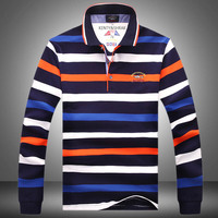 Fashion Brands Men'S Autumn Winter Long Sleeve Shark T Shirt, Men Casual stripe Tops & Tees High Quality men 100% cotton T Shirt