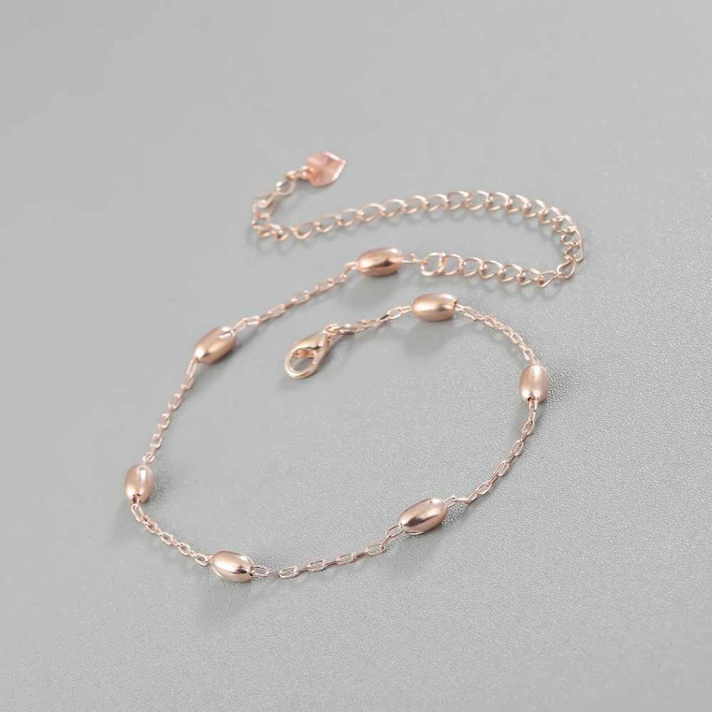 Trendy i same stopy kostki dla kobiet czeski styl urok owalny korale bransoletki plaża Anklets stóp bransoletka na nogę biżuteria