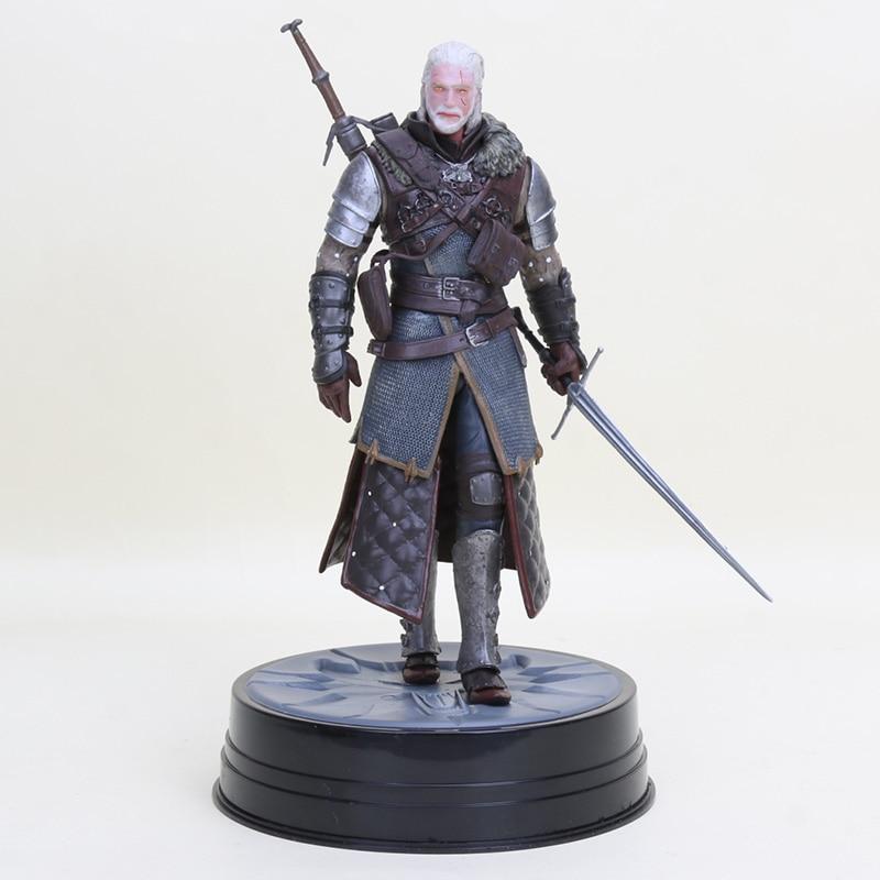 The Witcher 3 sauvage chasse Geralt Figure cheval noir Deluxe Geralt de Rivia Eredin PVC figurine à collectionner modèle poupée jouet