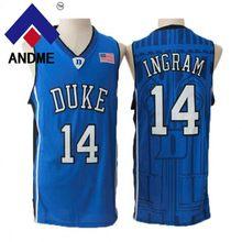 a927543bd Blue Devils 14 Brandon Ingram  0 Jayson Tatum 3 Grayson Allen  4 J.J. JJ  Redick Stitched College Throwback Basketball Jersey
