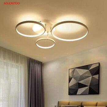 Nuevos anillos redondos creativos Luz de techo Led moderna para sala de estar, dormitorio, casa, interior, lámpara de techo Led AC85-265V