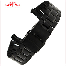 Laopijiang pulsera de acero inoxidable adaptación relojes moda de accesorios cadena doble deducción de seguro 18 / 20 / 22 / 24 mm
