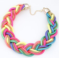 Hot Sell Exaggerated Jewelry 6 Colors Chian  Vintage Colar Statement Necklace torques Woman Choke Neaklaces SF-41
